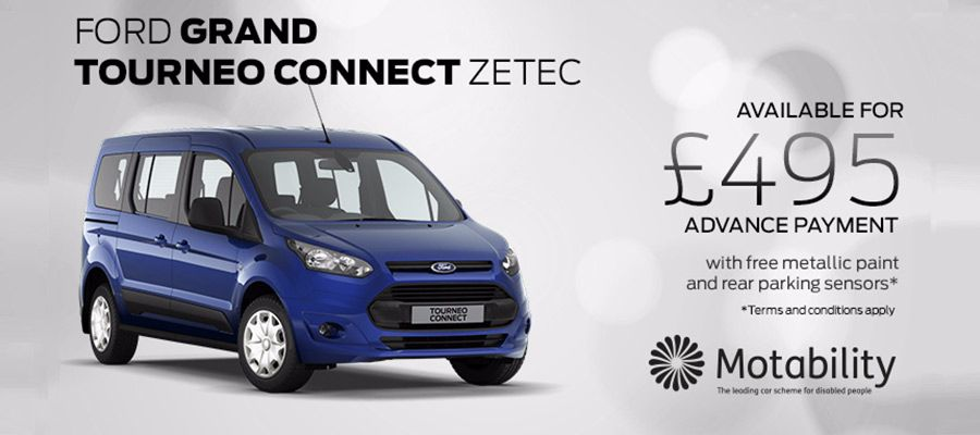 Ford Grand Tourneo Motability offers at Kerr Baillie