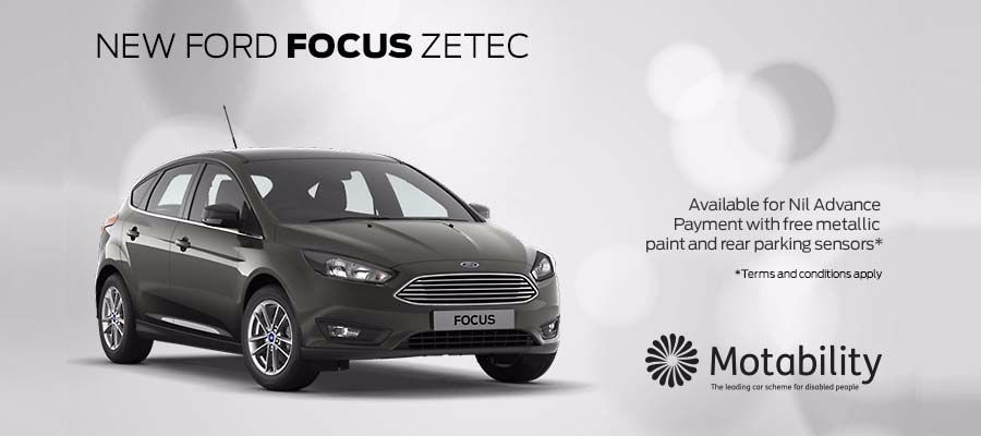 Ford Focus Motability offers at Kerr Baillie
